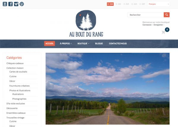 Website for Au bout du rang