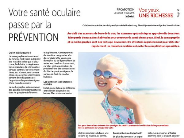 Article for Optométrie Charlesbourg